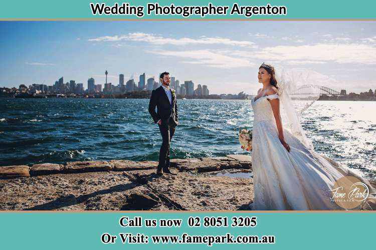 Photo of the Groom and the Bride at the sea front Argenton NSW 2284