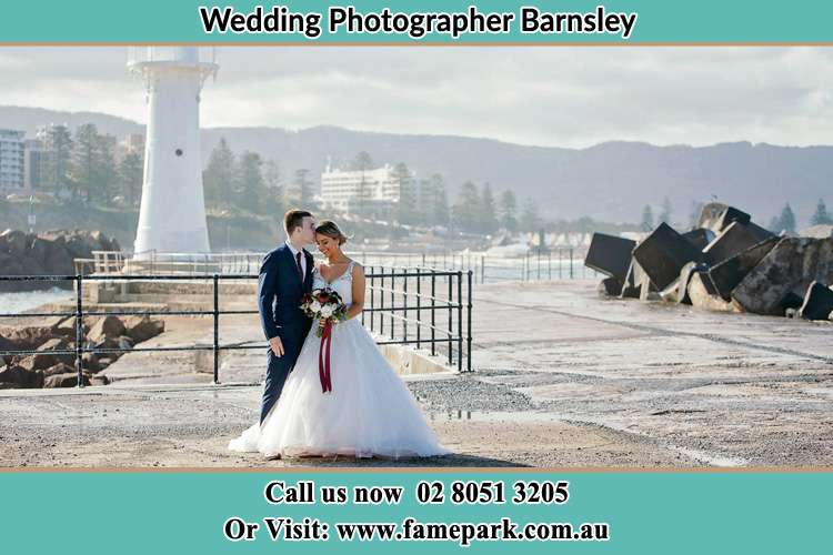 Photo of the Bride and Groom at the Watch Tower Barnsley NSW 2278