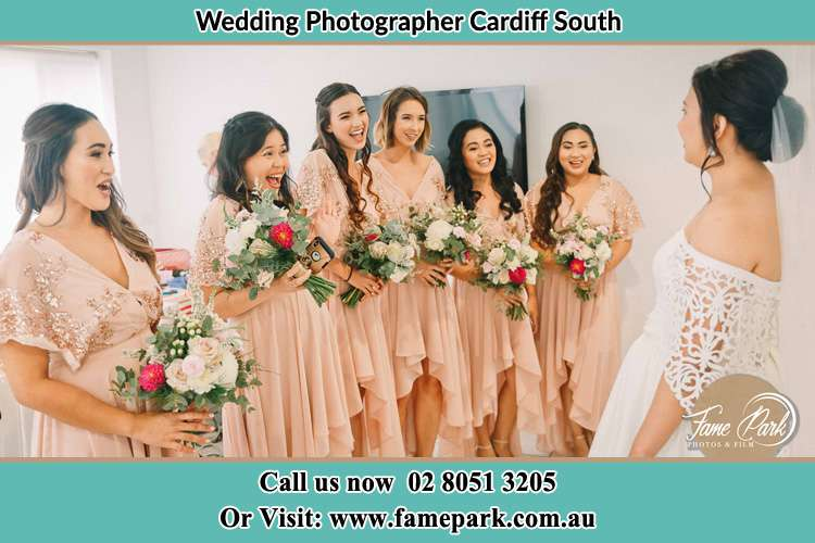 Photo of the Bride with the bridesmaids Cardiff South