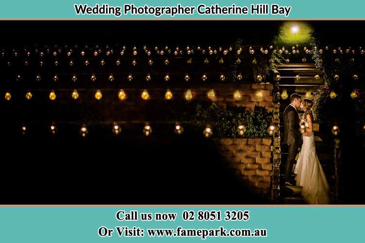 Photo of the Groom and the Bride kissing Catherine Hill Bay NSW 2281
