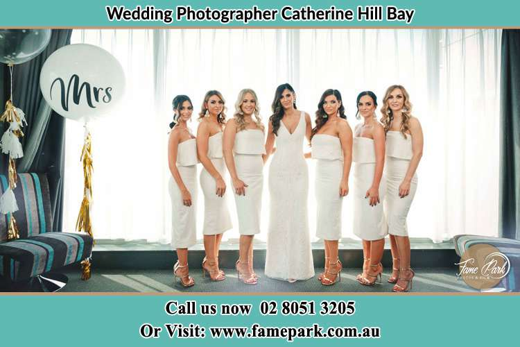 Photo of the Bride and the bridesmaids Catherine Hill Bay NSW 2281