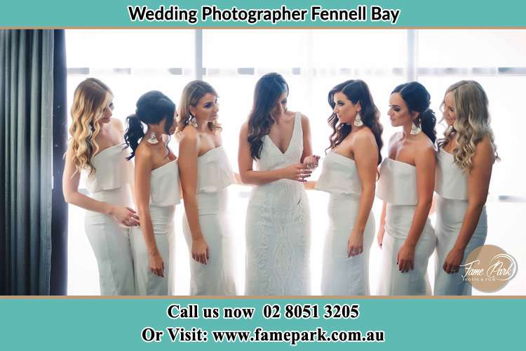 Photo of the Bride and the bridesmaids Fennell Bay NSW 2283