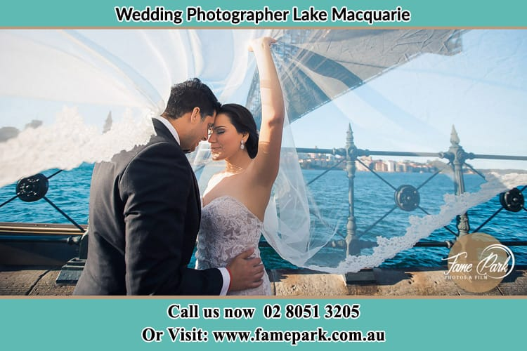 The Bride And The Groom At The Shore Lake Macquarie