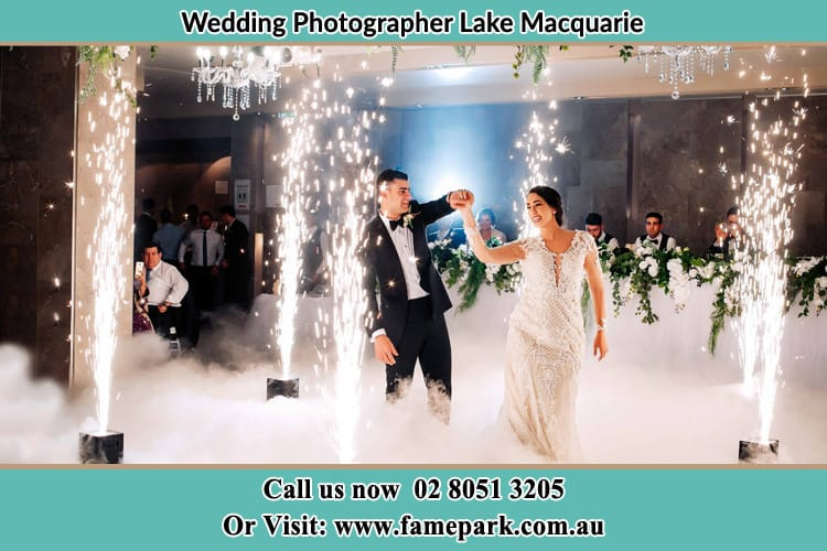 The Bride And The Groom Dance With Effects Lake Macquarie