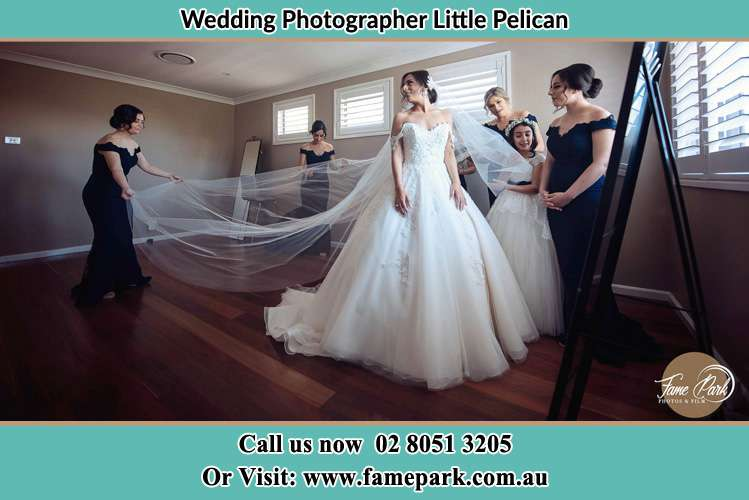 Photo of the Bride in Gown preparation Little Pelican