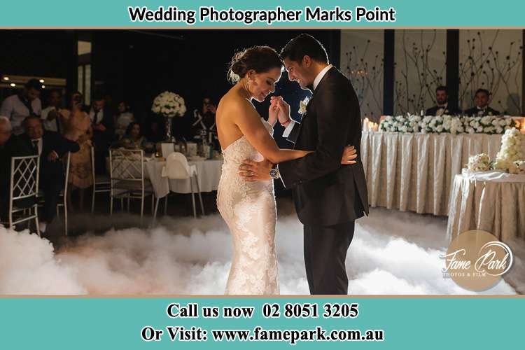 Photo of the Bride and the Groom dancing Marks Point NSW 2280