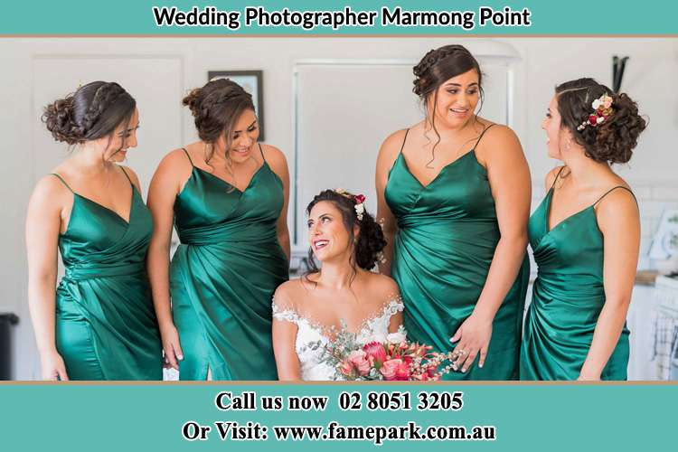 Photo of the Bride and the bridesmaids Marmong Point NSW 2284