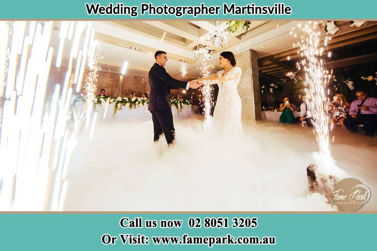 Photo of the Bride and the Groom dancing on the dance floor Martinsville NSW 2265