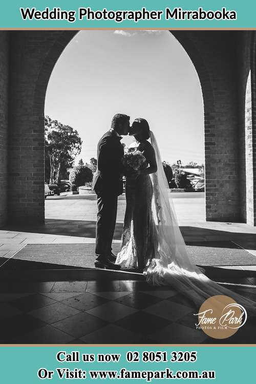 Photo of the Groom and the Bride kissing Mirrabooka NSW 2264