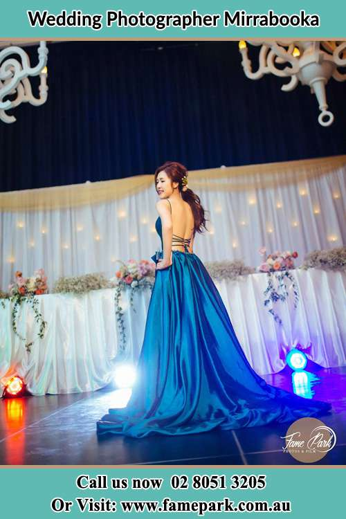 Bride walking at the stage Mirrabooka
