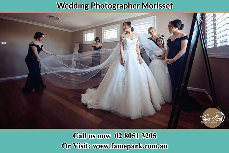 Photo of the Bride and the secondary sponsor preparing Morisset NSW 2264