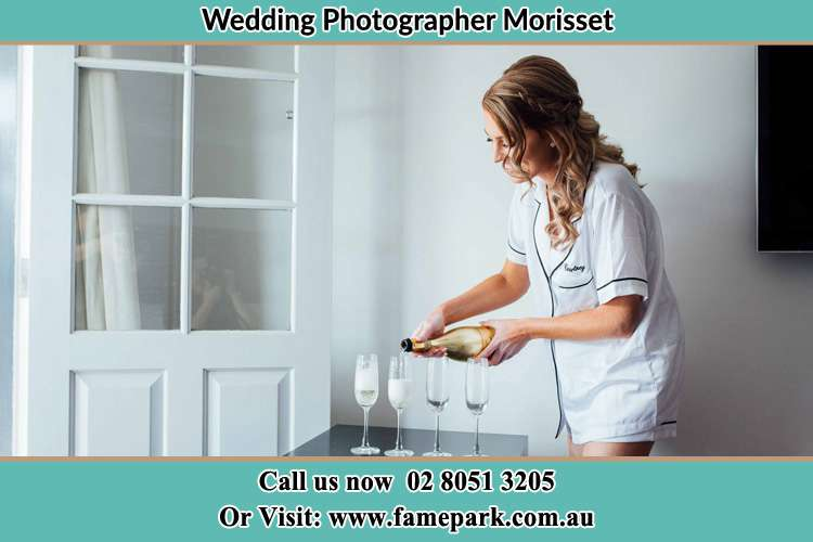 Bride preparing a drink Morisset