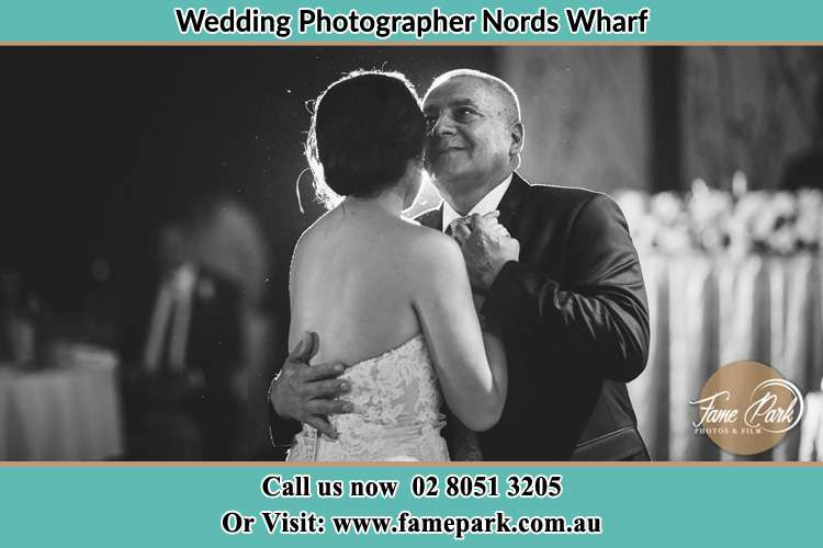 Photo of the Bride dancing with her father Nords Wharf NSW 2281