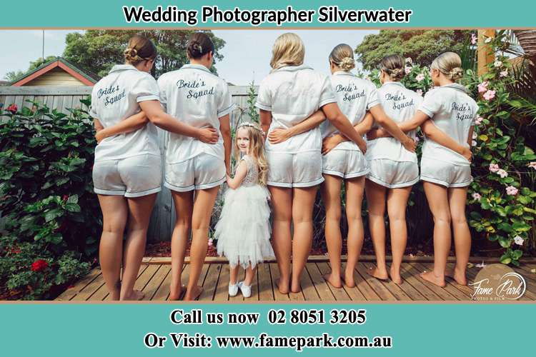 Bride and her secondary sponsors Silverwater