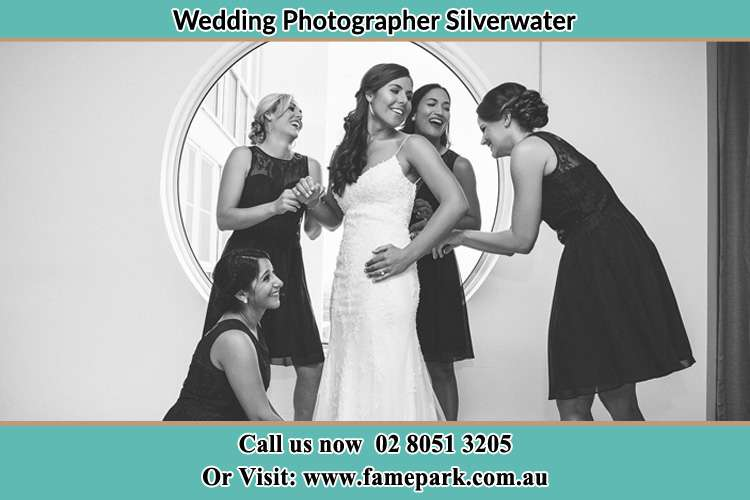 Bride getting ready with the help of her Bride's maids Silverwater