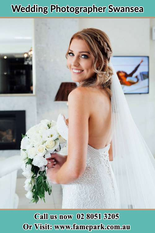 Photo of the Bride on her gown Swansea 2281