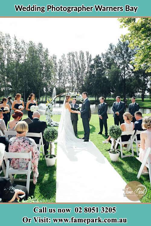 Garden wedding ceremony photo Warners Bay NSW 2282