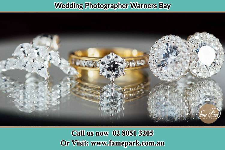 Photo of the Bride's cliff, ring and earrings Warners Bay NSW 2282