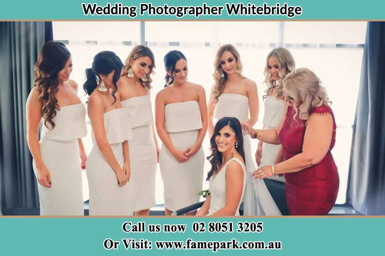 Photo of the Bride and the secondary sponsor preparing Whitebridge NSW 2290