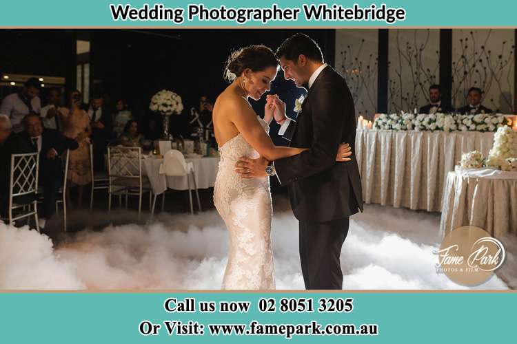 Bride and Groom at the dance floor Whitebridge