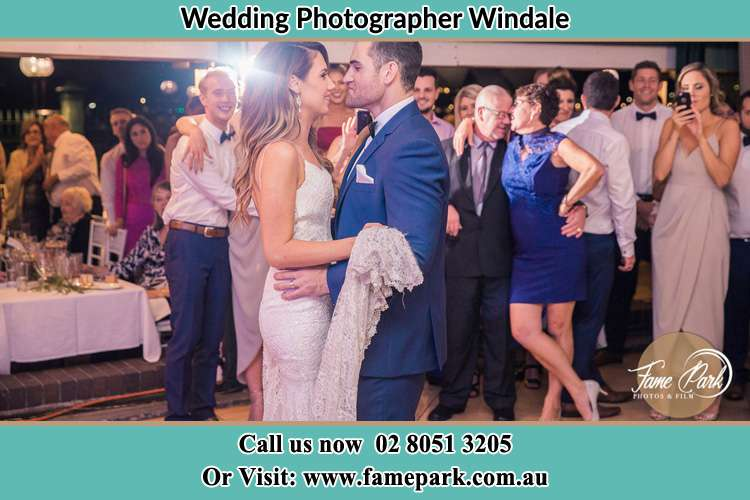 Bride and Groom dance at the reception Windale