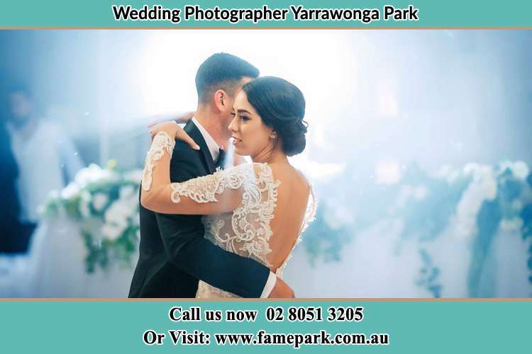 Photo of the Groom and the Bride dancing Yarrawonga Park NSW 2264