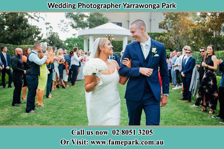 Photo of the Groom and the Bride looking each other Yarrawonga Park NSW 2264