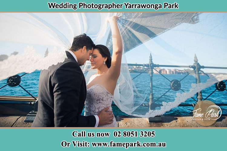 Bride and Groom near the seashore Yarrawonga Park